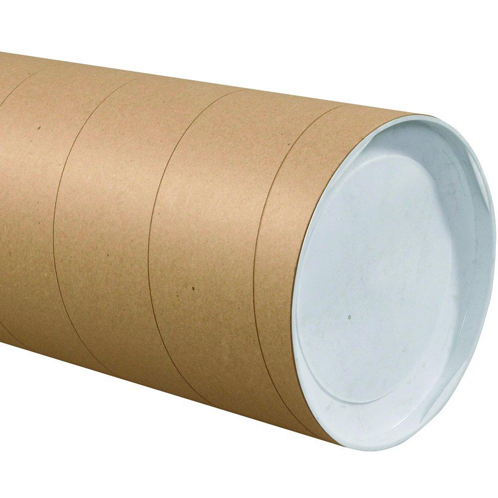 Aviditi P8036KHD Jumbo Mailing Tubes, 8'' x 36'', Kraft (Pack of 10)