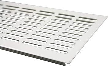 Rejilla de ventilaci/ón plato//DE pantalla 100 x 600 mm aluminio//blanco