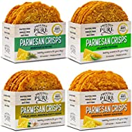 Keto Friendly Crackers, Snacks Parmesan Cheese Crisps Low Carb, Healthy Diet Food Crackers 100% Natural Aged Cheesy Parm Chips Crunchy Delicious Gluten Free Wheat & Soy-Free {Variety Pack 10oz 4 Pk}
