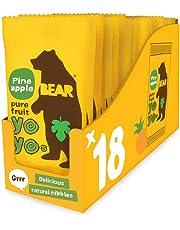 Bear Yoyo 100 Percent Fruit Rolls Pineapple 20 g (Pack of 18)