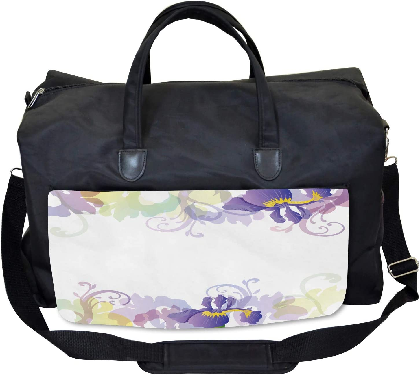 Ambesonne Garden Gym Bag Classic Petals Pastel Large Weekender Carry-on