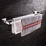 LOVELY Stainless Steel Towel Rack Towel Bar Paper Holder Cloth Hook Basket Shelf Soap Dish Toilet Brush Holder Bathroom Hardware BAL99711