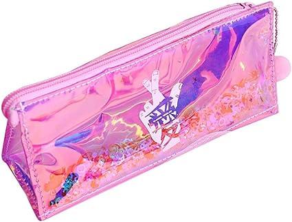 Hunpta - Estuche para lápices de alta capacidad, colorido, estuche para cosméticos, bolsa de maquillaje de viaje, color C: Amazon.es: Oficina y papelería