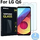 2Pack,LG Q6 vetro temperato, pellicola in vetro,Widamin Garanzia a vita,durezza 9H, resistente ai graffi,impronte digitali facili da pulire per LG Q6 pellicole