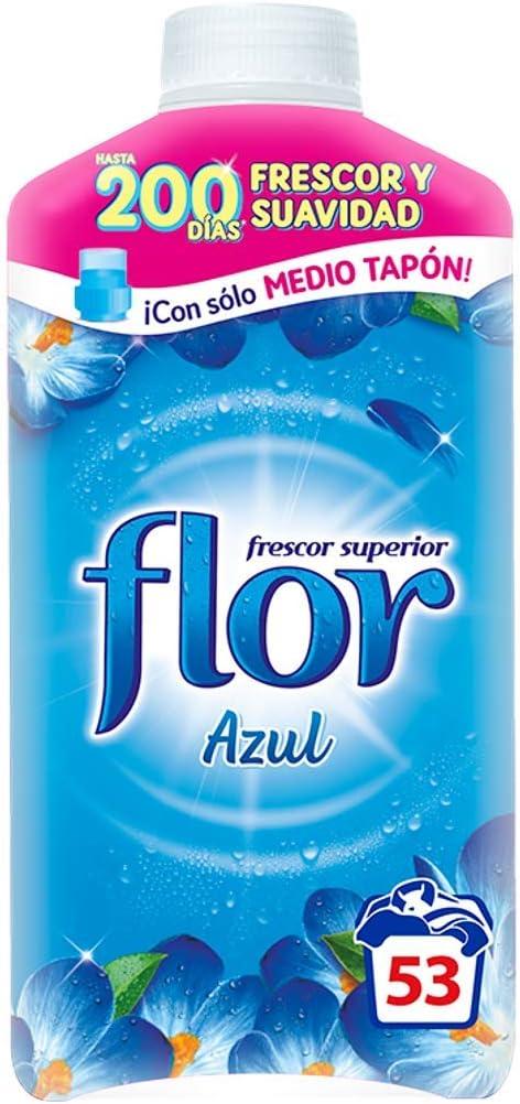 Flor - Suavizante para la ropa concentrado, aroma azul - 53 dosis
