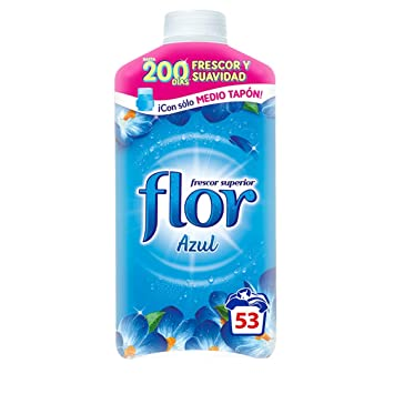 Flor Suavizante Concentrado Azul - 50 dosis [Pack de 5, Total 250 ...