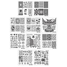 Bundle Monster 10pc Nail Art Polish Manicure Stamping Plates - Musik City Collection