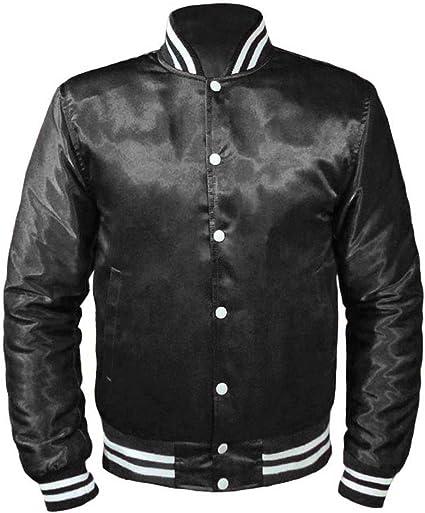 AWDis Hoods Kids Varsity Jacket Boys//Girls College Letterman Fashion