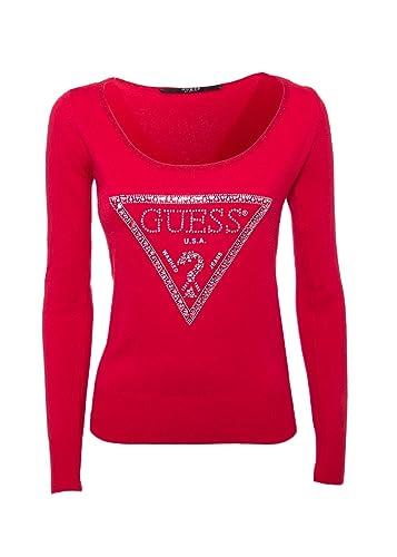 GUESS – Maglia donna manica lunga star sweater w73r84z1lb0