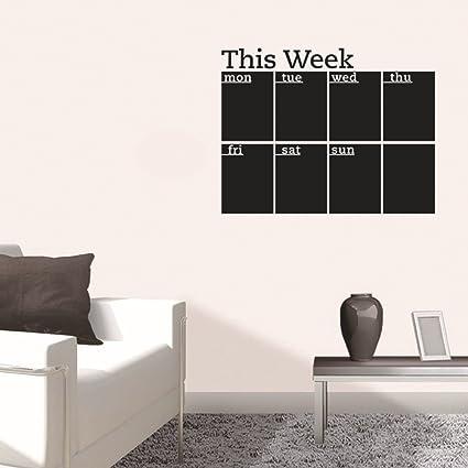 Zooarts esta semana adhesivo de pared, diseño de pizarra ...