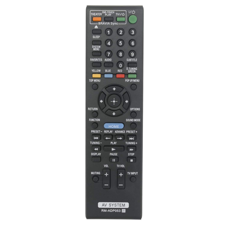RM-ADP053 リモートコントロール 適合機種: ソニー Blu-ray Disc DVDプレーヤー ホームシアターシステム BDV-E370 BDV-E470 BDV-E570 BDV-E580 BDV-E77 BDV-E880 BDVF500 BDV-F500 BDV-F7 BDV-N890W (RMADP053) (1-487-647-11)   B07K2JYFJP