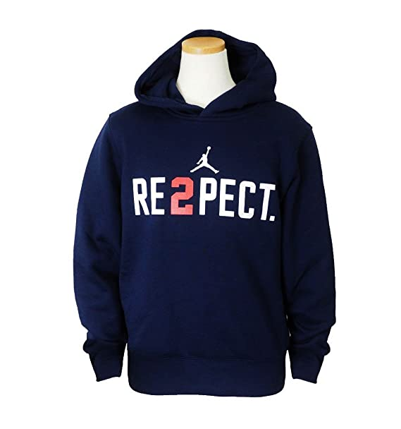 2eded3789a0 Nike Jordan Boy's Derek Jeter Re2pect Pullover Hoodie 954889-774 College  Navy/White (