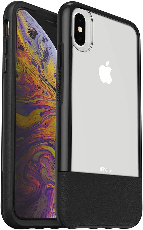 OtterBox Clear & Leather Case for iPhone Xs Max - LUCENT BLACK (CLEAR/BLACK)