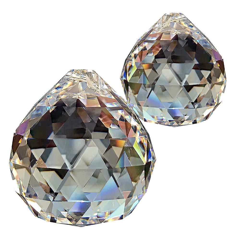 2pezzi di cristallo sfera Ø 50mm 30% piombo cristallo arcobaleno cristallo da appendere decorazione per finestra Feng Shui cristallo della sfera di vetro Christoph Palme Leuchten