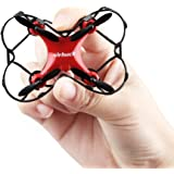 Virhuck GB202 Mini Quadcopter Drohne, 2,4 GHz, 6 Axis Gyro, 3 Speed Mode, 3D Rotation, 360 Grad Eversion Quad Drone Mini RC Drone für Kind und Anfänger (Rot)