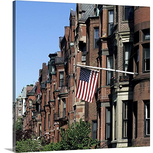 GREATBIGCANVAS Gallery-Wrapped Canvas Entitled Historic Back Bay Area, Boston, Massachusetts by 10