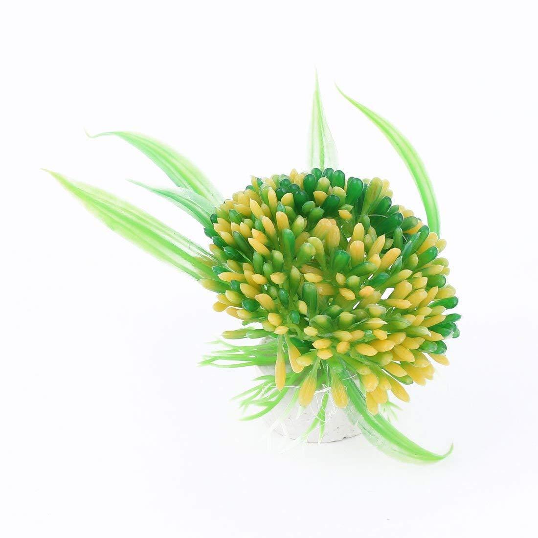 1Pc Ceramic Base Plastic Fish Tank Ornament Aquarium Plants Manmade Water Grass