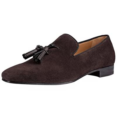 Cuckoo Slip On Dress Shoes Brown Loafers with Tassels for Men US7.5   Loafers & Slip-Ons