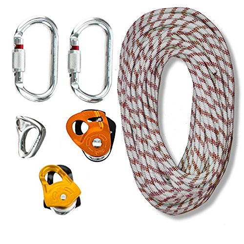 zRig Mini Rope Haul System 3to1 Mechanical Advantages with Progress Capture by OmniProGear