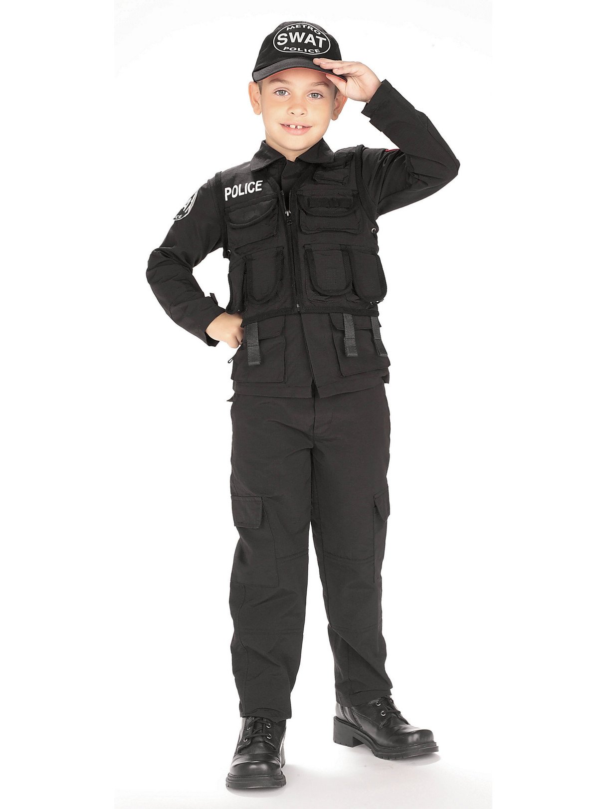 Young Heroes Child's SWAT Police Costume, Large