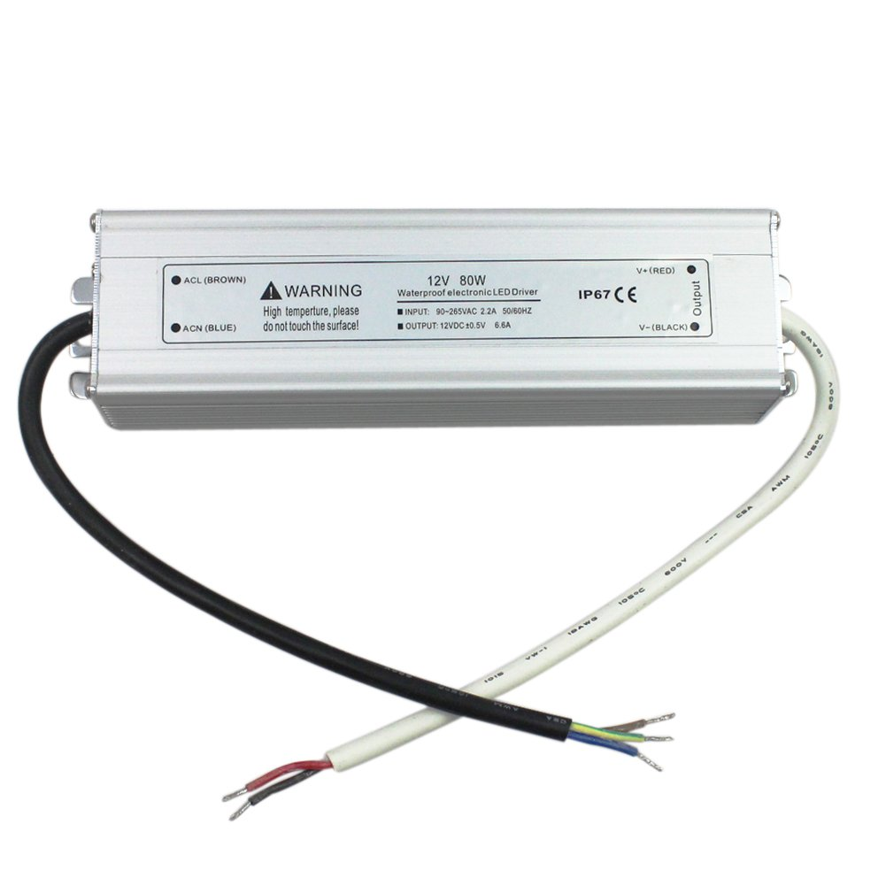 SZMiNiLED LED Driver Power Supply 80W Aluminum Alloy Waterproof LED Transformer 12v DC Output