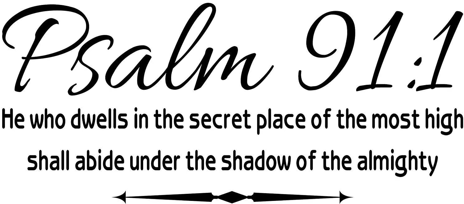 Wall Decal Psalm 91:1 He Who Dwells in The Secret Place Scripture Wall Arts Quote