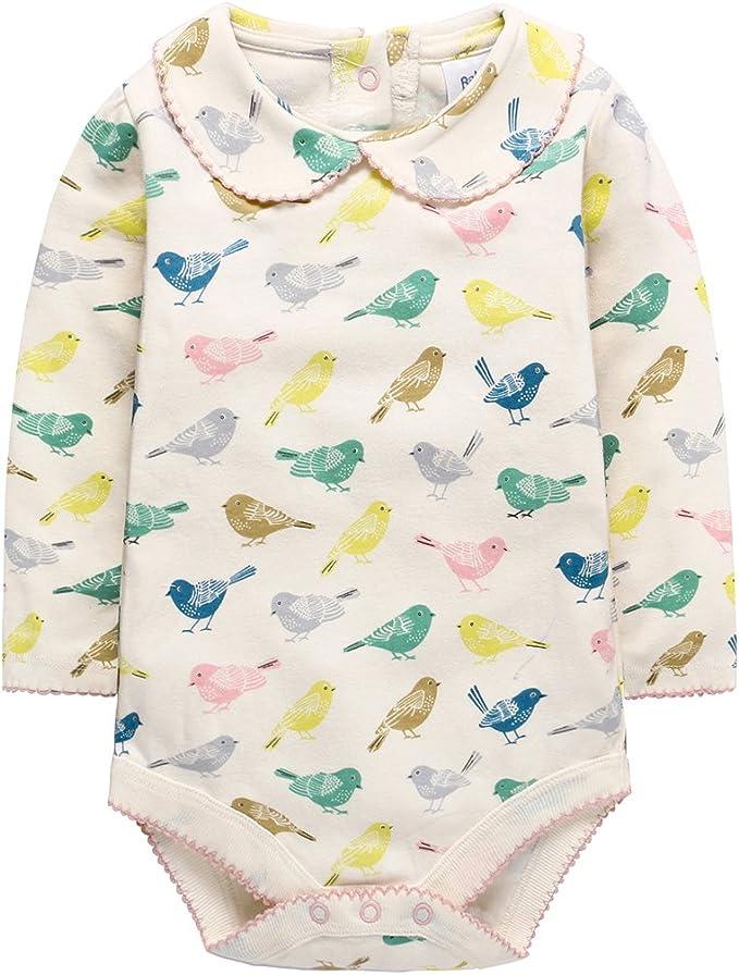 Bebé Niñas Body de Manga Larga, Pijama de algodón Mono Caricatura Pelele: Amazon.es: Ropa y accesorios