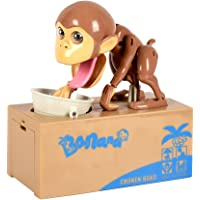Shinee Automated Eating Coin Monkey Piggy Bank Coin Saving Money Box Gift
