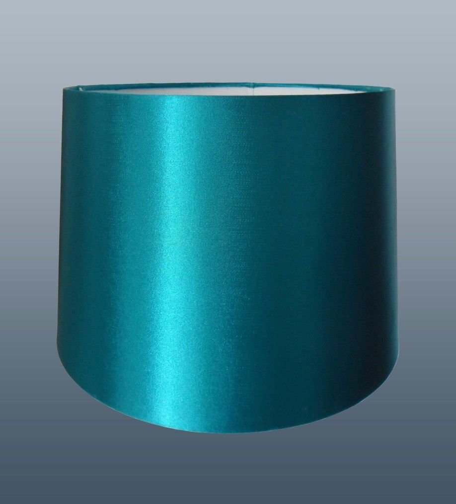 10 teal faux silk lampshade amazon lighting aloadofball Image collections