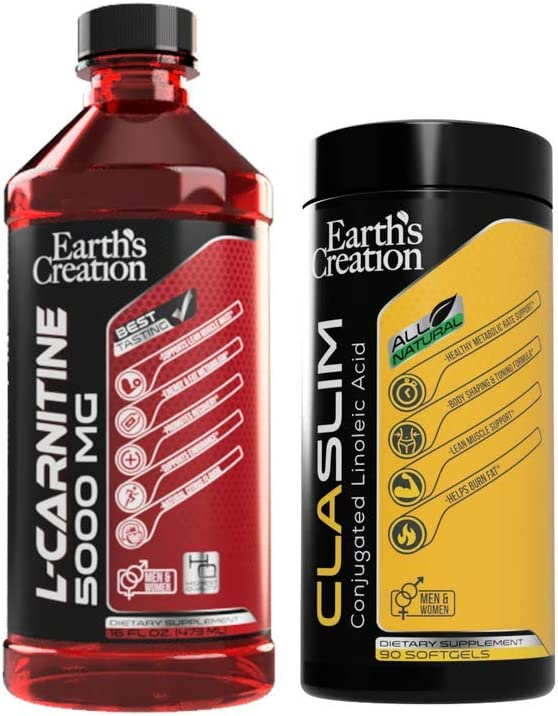 Earth s Creation Liquid Carnitine 5000 with CLA Bundle
