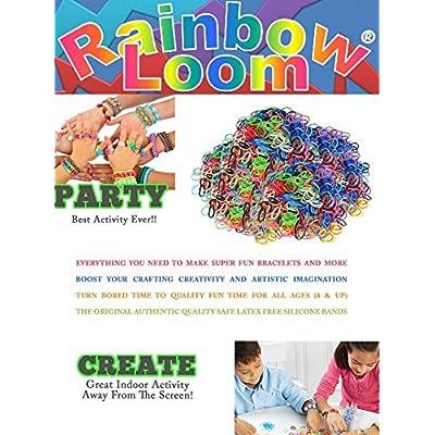 Rainbow Loom Crafting Kit includes Loom, Metal Hook, Mini Rainbow Loom, 600 Rubber Bands + 24 Clips: Toys & Games