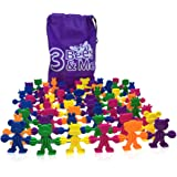 3 Bees & Me Buddies in a Bag - Fun Toddler & Preschool Learning Toys for Boys & Girls - Montessori Toys for Toddlers - Educational Linking & Color Sorting Motor Skills Toy for 2 3 4 5 Years Old