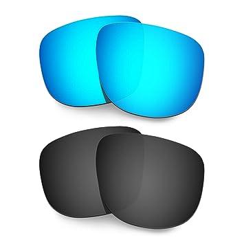 030f38d1a6 HKUCO Lentes de Repuesto para Oakley Holbrook R OO9377 Gafas de Sol Azul/Negro  Polarizado: Amazon.es: Deportes y aire libre