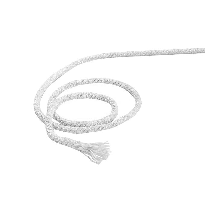 170 mx 4 mm cuerda de algodón para tejer cuerda de bricolaje Bohemia  macrame decoración de pared artesanía hecha a mano blanco  Amazon.es  Hogar 3964ad15bd9
