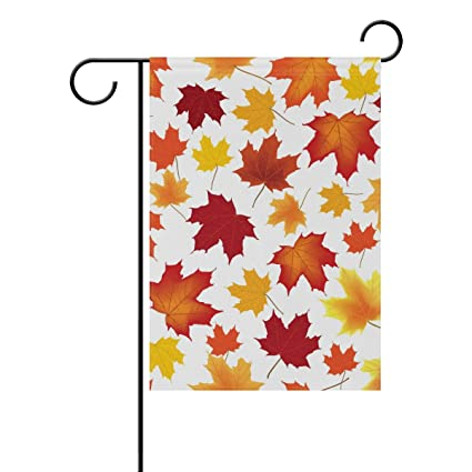 Amazon LORVIES Autumn Maple Leaves Pattern Polyester Garden Fascinating Maple Leaf Pattern