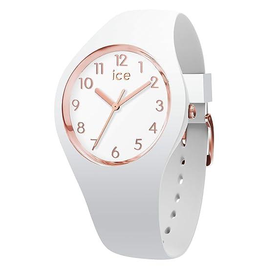 Ice Watch ICE glam White Rose Gold Reloj bianco para Mujer con Correa de silicona 015337 (Small)