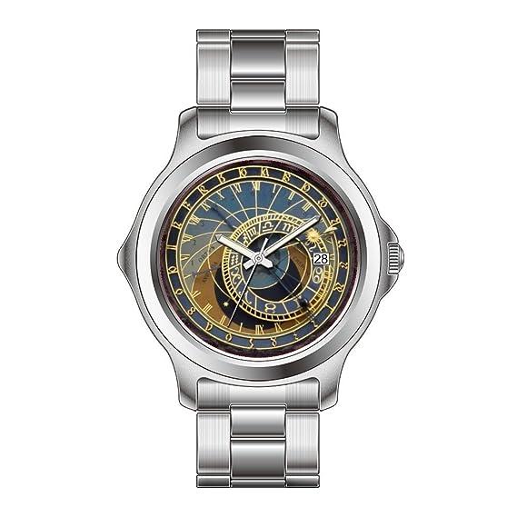 FDC - Navidad regalo relojes mujer Fashion FECHA acero inoxidable reloj de pulsera de cuarzo japonés Praga reloj astronómico reloj de pulsera: Amazon.es: ...