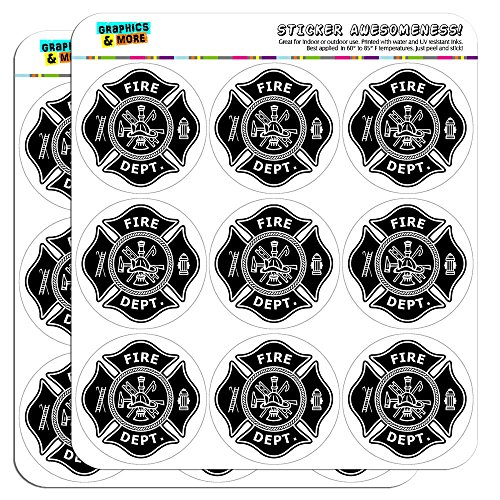 Firefighter Firemen Maltese Cross Black 2