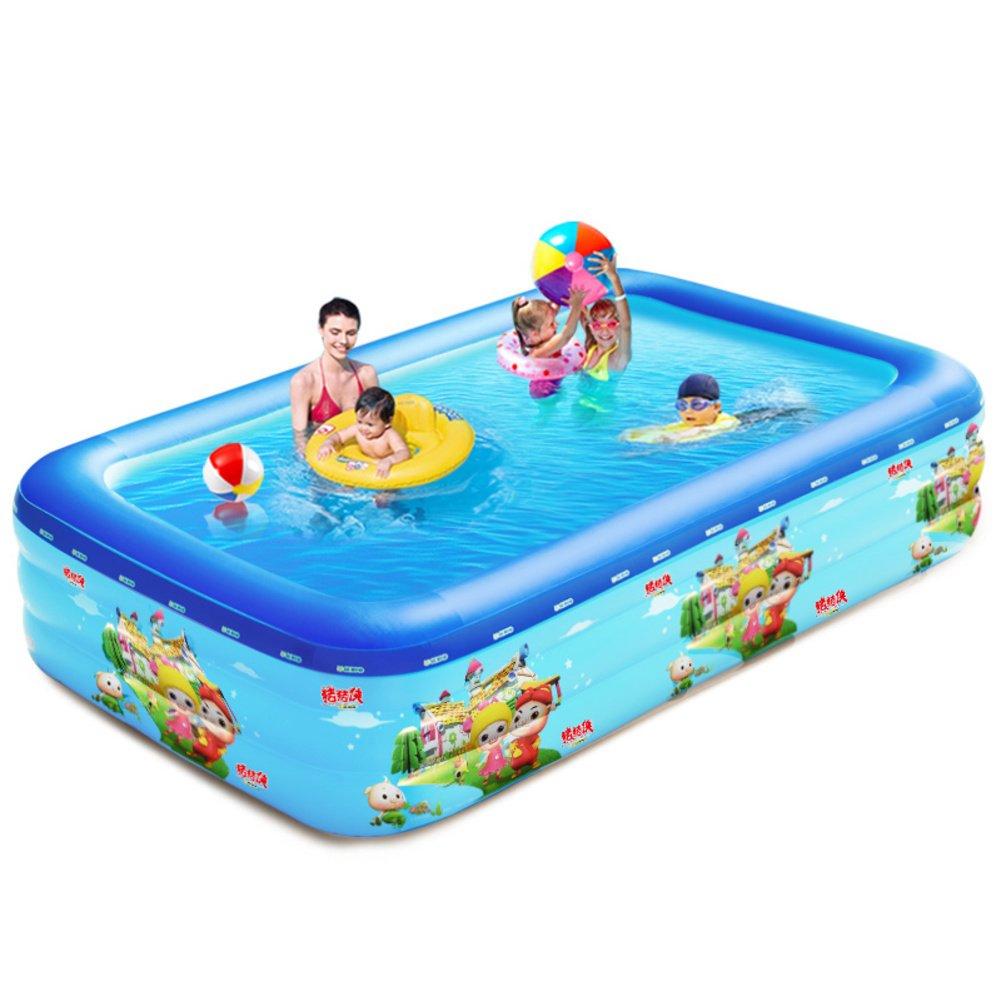 Säuglings- und Kinder aufblasbare Schwimmbecken/Verdickte Familie Baby Planschbecken/Home Freizeitbad-B