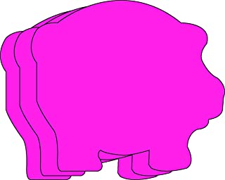 """product image for Pig Large Single Color Creative Cut-Outs, 5.5"""" x 5.5"""", 31 pigs to a package"""