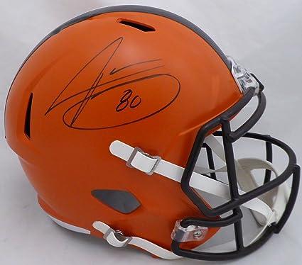 Jarvis Landry Autographed Cleveland Browns Full Size Speed Replica Helmet  Beckett BAS 2ec64401d