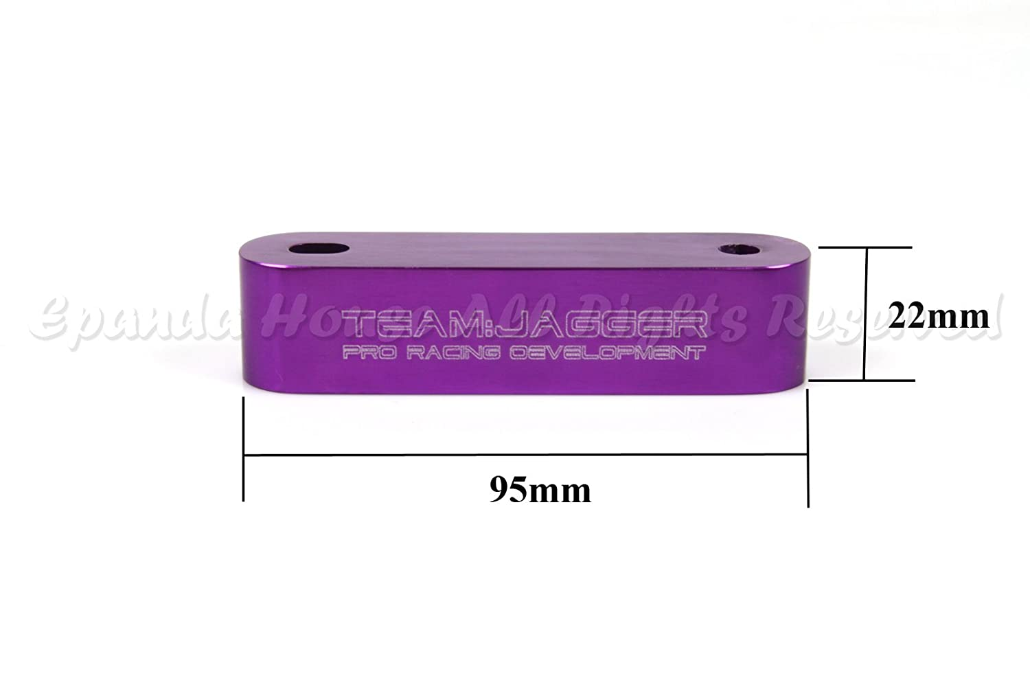 For 01-06 Rsx Dc5 JDM Look Hood Riser Spacer Vent Engine Hot Air Anodized Purple