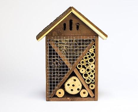 Insectos de madera para jardín Hotel/casa. Nido.