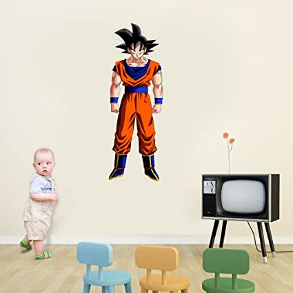 Decor Villa Goku Wall Sticker & Decal (PVC Vinyl,Size - 20 cm x 58 cm)