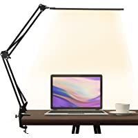 LED Desk Lamp,brightower Adjustable Swing Arm Table Lamp with Clamp,Eye-Caring Architect Desk Light,Dimmable Lamp for…