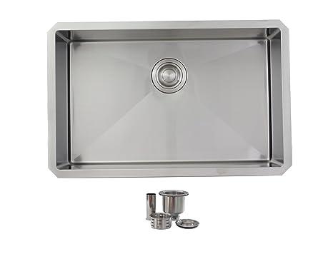 28 inch Undermount Single Bowl Stainless Steel Kitchen Sink ...