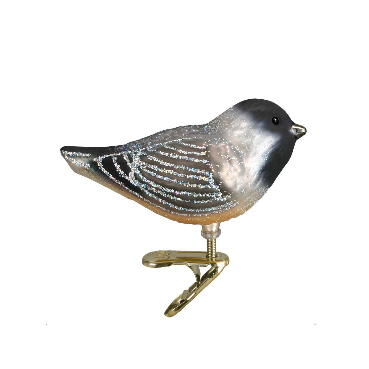 Hairy Woodpecker Old World Christmas Glass Blown Clip On Ornament With Gift Box Birds Collection 18039