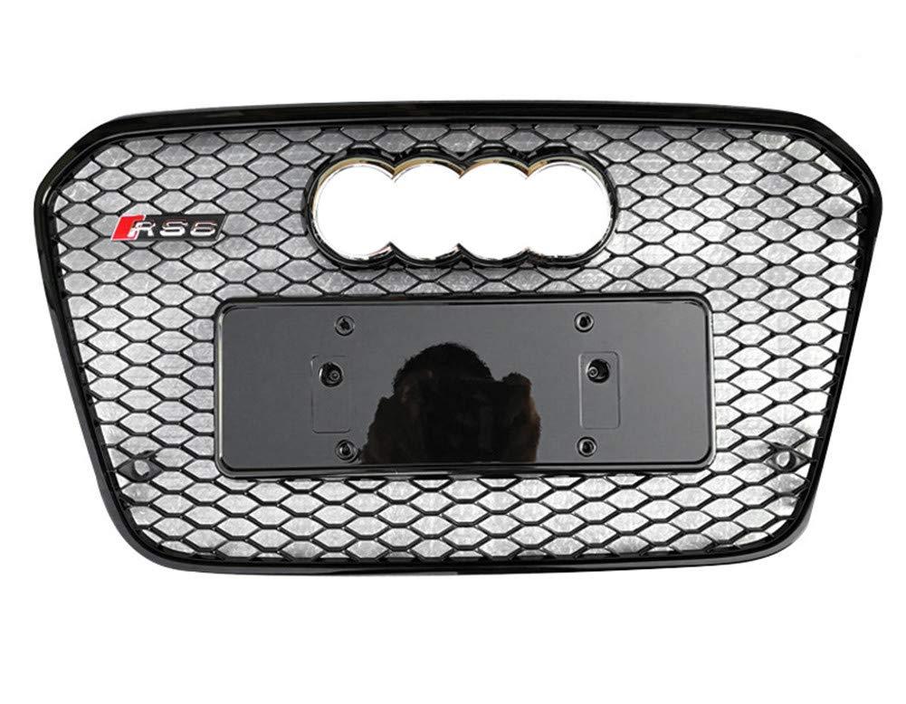 Xinshuo ABS Griglia radiatore Anteriore a Nido dApe in ABS per RS6 Style A6 S6 2012-2015 1 Confezione