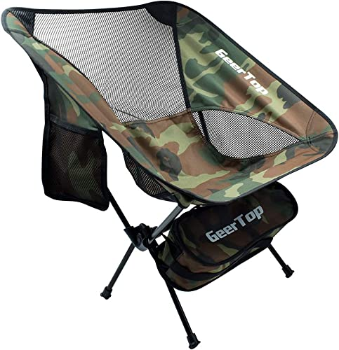 GEERTOP Ultralight Backpacking Folding Chair Portable Camping Chairs for Men Women Outdoor Camp Hiking Travel Beach Picnic