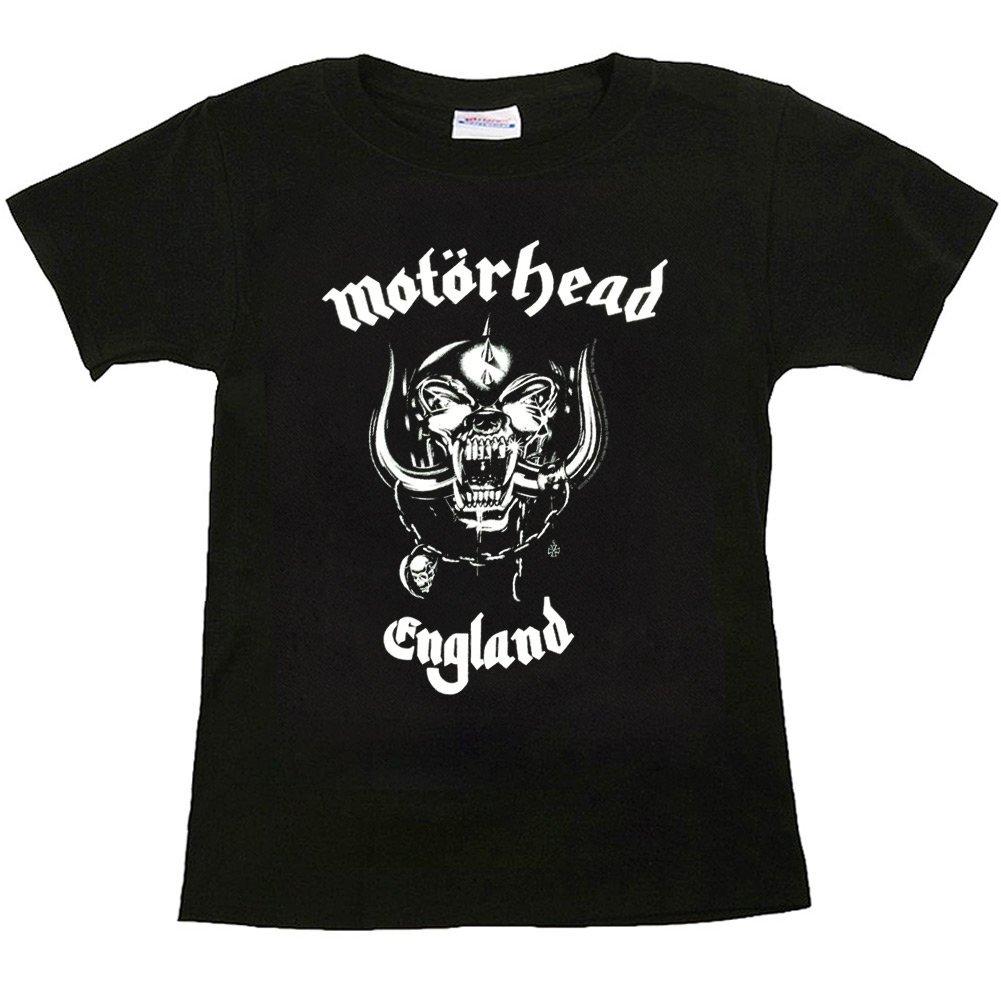 Kiditude Motorhead England Toddler T-Shirt, Black
